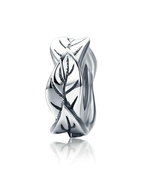 pandora: Silver Spacer Leave Design Charm!