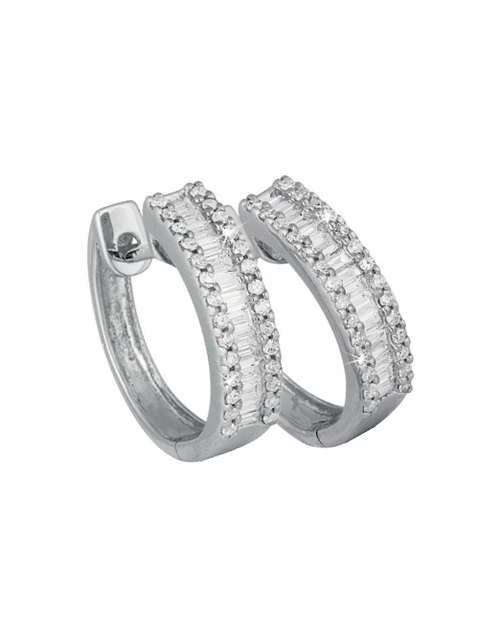 anniversary: 9ct White Gold Diamonds Earrings 0.27ct!