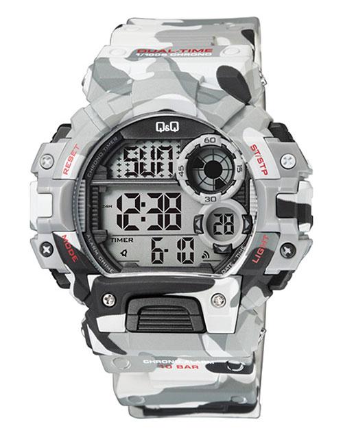 anniversary: QQ Gents Outdoors Army Grey Digital Watch!
