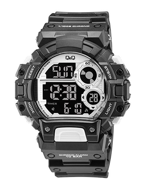 anniversary: QQ Gents Outdoors Black and Silver Digital Watch!