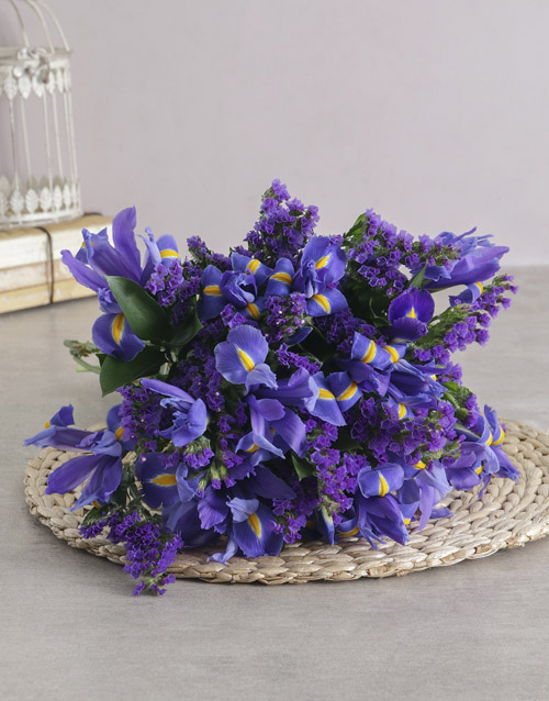 flowers: Bright and Beautiful Blue Iris Bouquet!