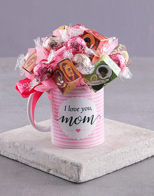 edible-chocolate-arrangements: Love You Mom Edible Arrangement Mug!