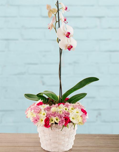 flowers: Pretty in Pink Basket!