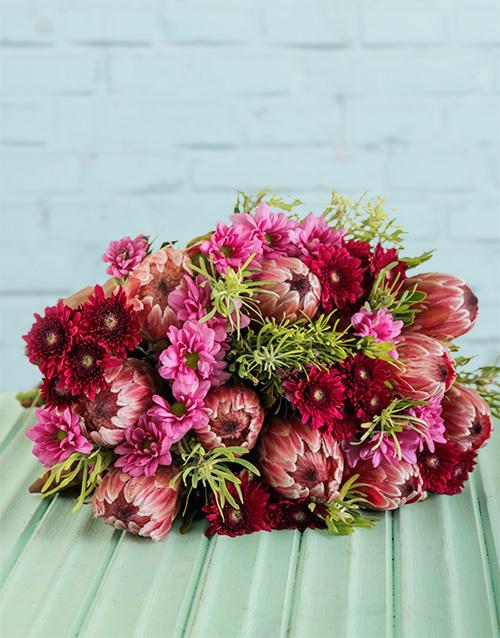 flowers: Protea Bouquet!