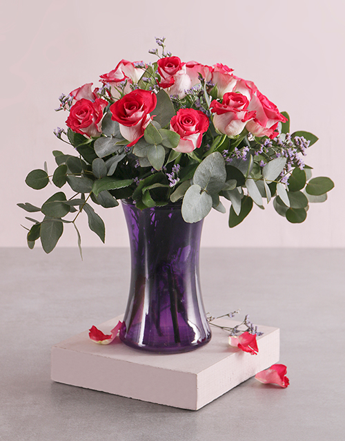 mothers-day: Majestic Roses in Vase!