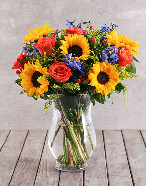 mothers-day: Mixed Sunflower Arrangement!