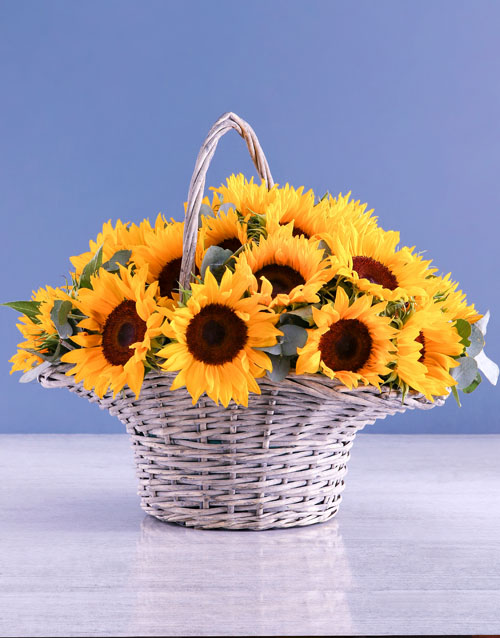 colour: Mothers Day Sunflower Basket !