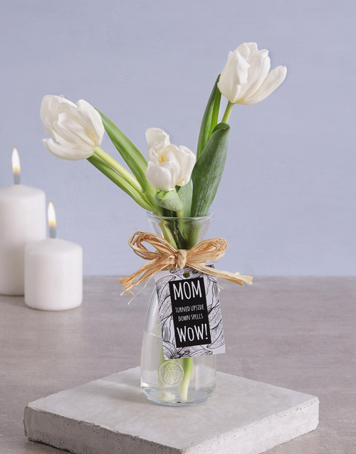 mothers-day: Tulips in Vase for Mom!