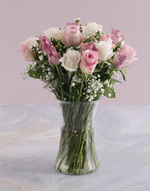 colour: Mothers Day Pastel Mixed Rose Arrangement!