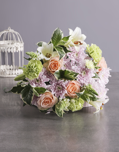 mothers-day: Peach and Pastel Mothers Day Bouquet!