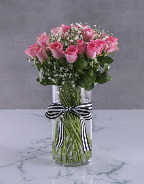 mothers-day: Pretty In Pink Roses Display!