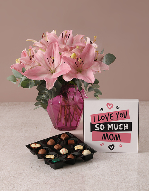 house-warming: Perfect Pink Lilies For Mom!