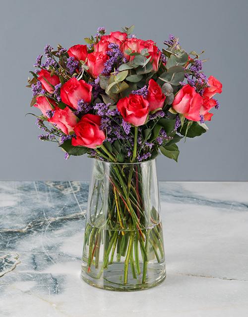 colour: Mothers Day Cerise Rose Bouquet!