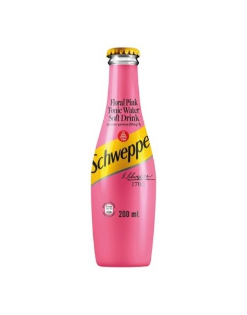mixers: SCHWEPPES FLORAL PINK TONIC GLASS 200ML!