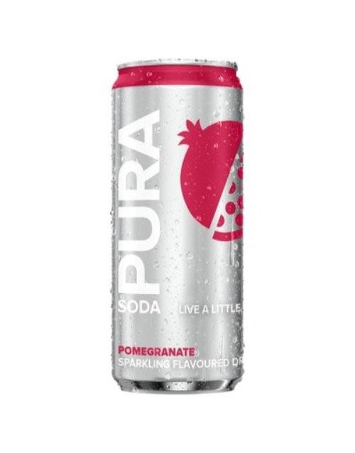 mixers: PURA SODA POMEGRANATE 330ML!