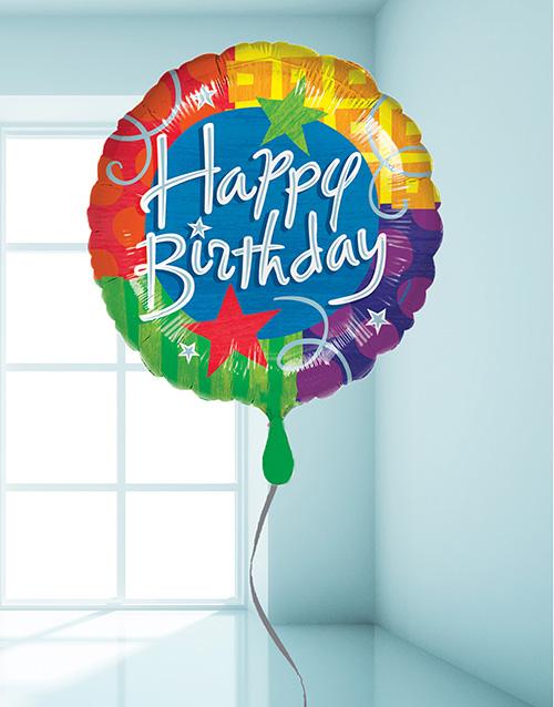 prices: Multi Coloured Birthday Balloon!