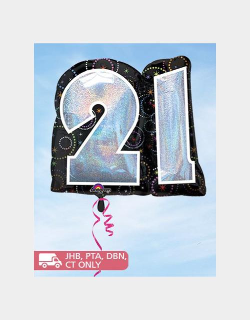 balloon: Jumbo 21st Balloon!