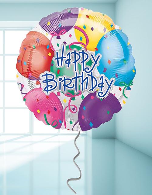 balloon: Happy Birthday Streamer Balloon!