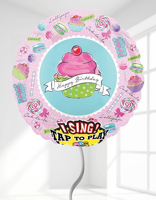 balloon: Happy Birthday Cupcake Singing Balloon!