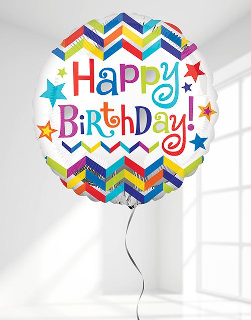 balloon: Happy Birthday Chevron Balloon!