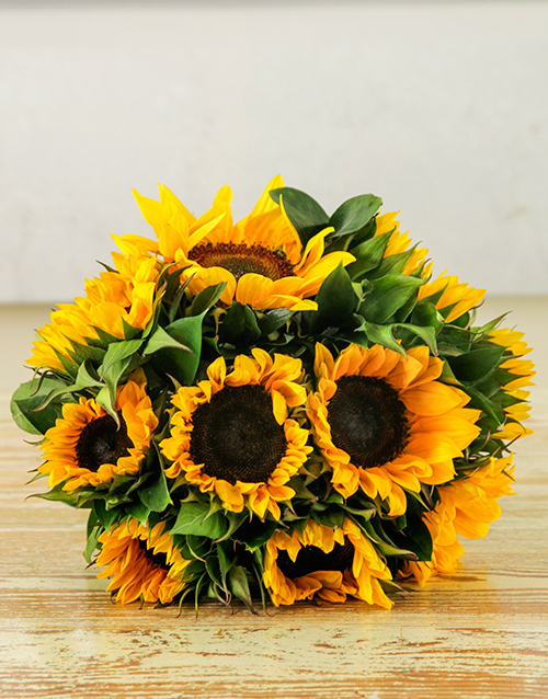 sunflowers: Sunflower Sunrise Bouquet!