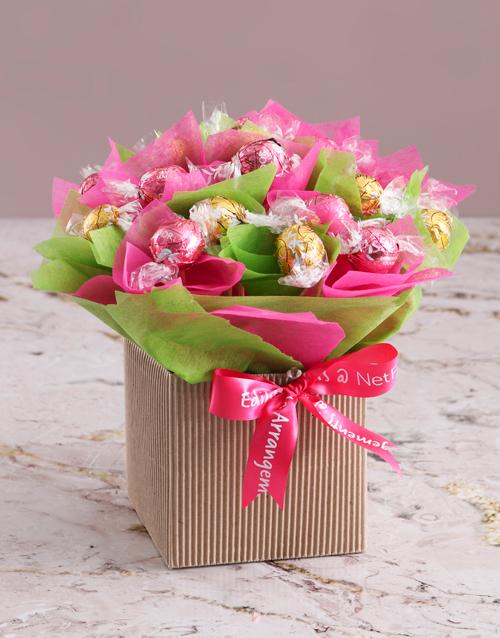 flowers: Lindt Edible Arrangement!