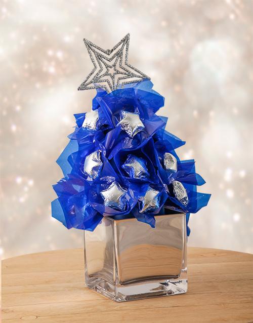 edible-chocolate-arrangements: Silver and Blue Edible Arrangement!