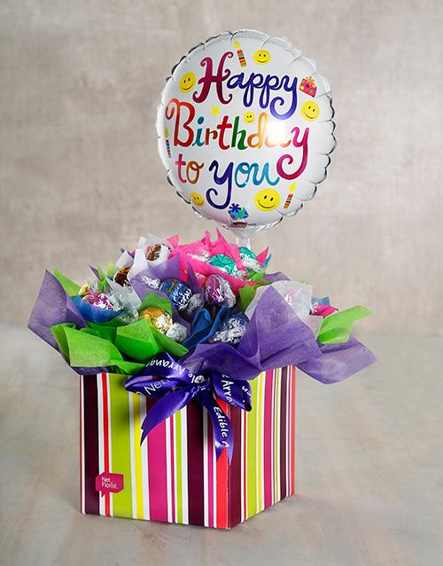 edible-arrangments: Birthday Balloon Edible Arrangement!