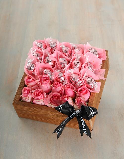 edible-chocolate-arrangements: Pink Irish Cream Joy Crate!