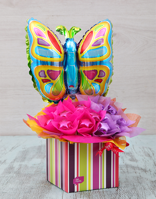 edible-arrangments: Colourful Butterfly Edible Arrangement!