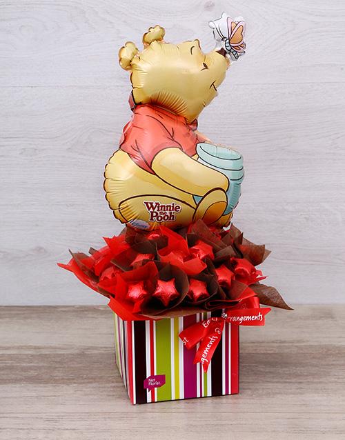 edible-chocolate-arrangements: Pooh Bear Chocolate Star Box!