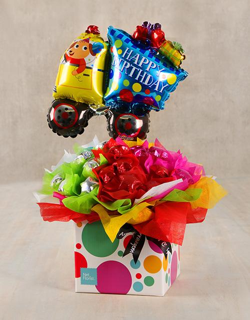 edible-chocolate-arrangements: Happy Birthday Truck Box!