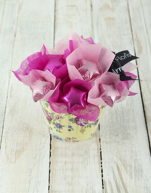 flowers: Cerise Star Cupcake Arrangement!