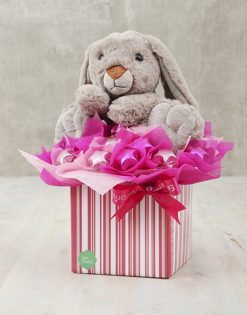 teddy-bears: Rabbit and Pink Choc Star Box!
