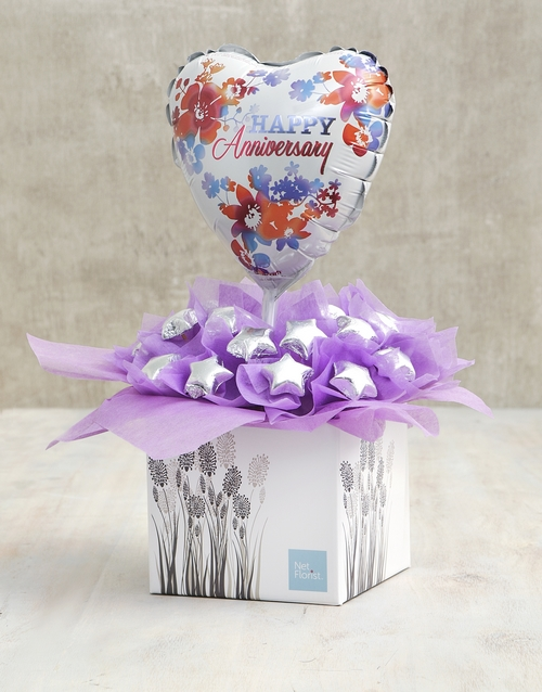 prices: Lilac Happy Anniversary Edible Arrangement!