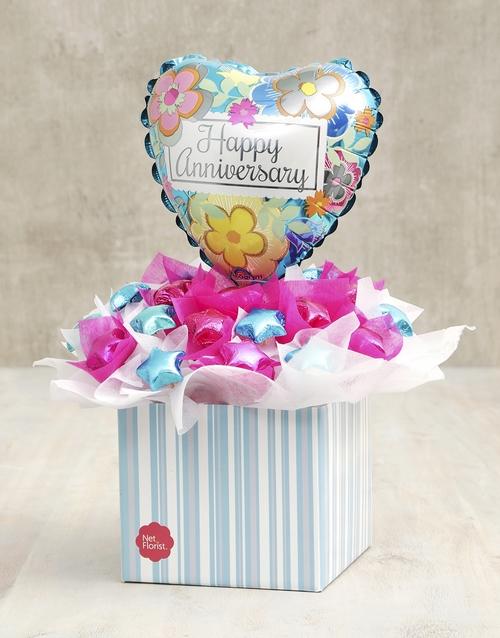 edible-chocolate-arrangements: Cerise & Turquoise Anniversary Edible Arrangement!