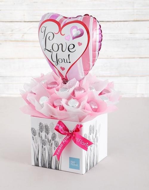balloon: Loved Up Caramel Heart Arrangement!