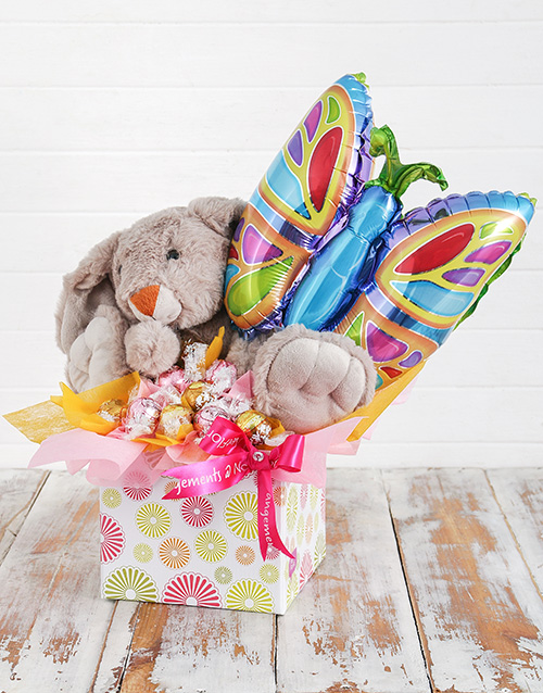 teddy-bears: Rabbit Lindt and Butterfly Balloon Box!