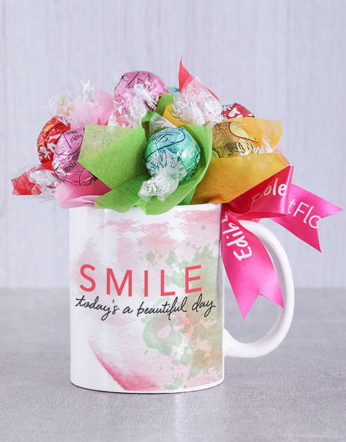 flowers: Beautiful Day Lindt Mug Arrangement!