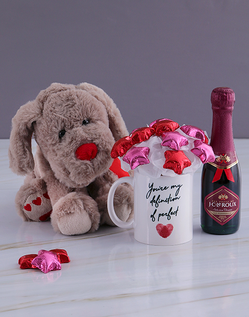 flowers: Delightful Bubbly and Teddy Bear Arrangement!