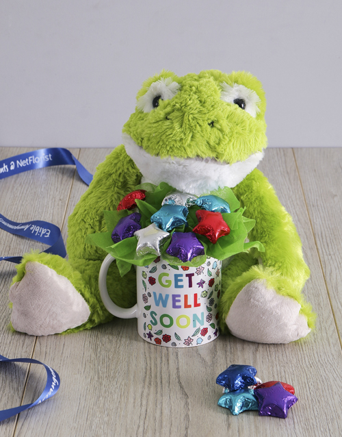 edible-chocolate-arrangements: Get Well Soon Froggy Arrangement!