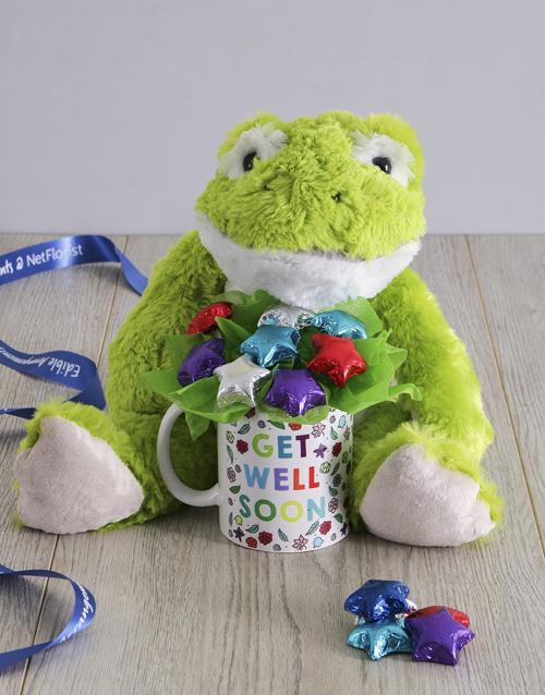 teddy-bears: Get Well Soon Froggy Arrangement!