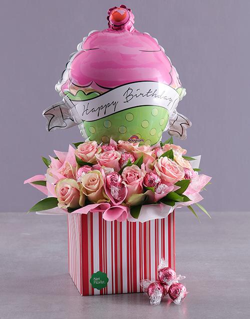 edible-chocolate-arrangements: Happy Birthday Chocolates and Roses!