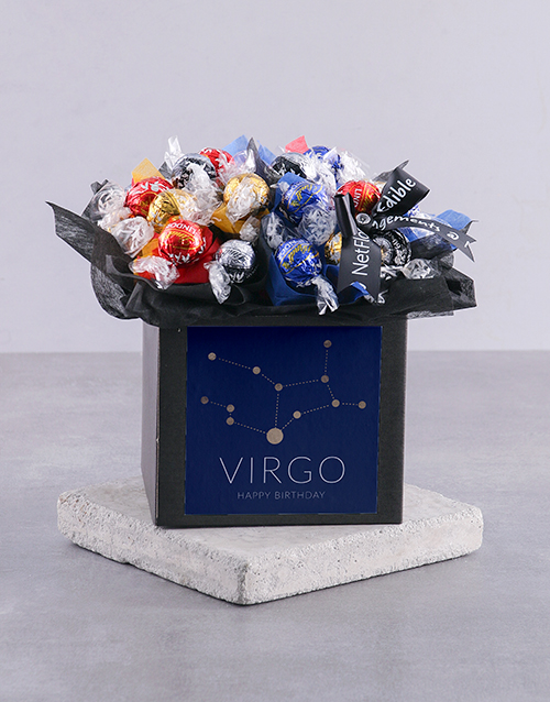 edible-arrangments: Personalised Star Sign Happy Birthday Lindt Box!
