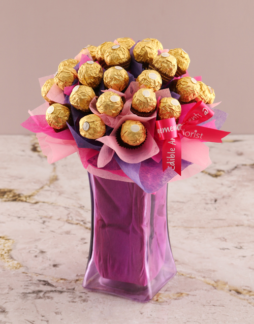 birthday: Royal Ferrero Rocher Edible Arrangement!