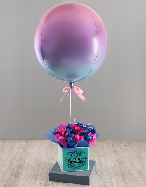 birthday: Personalised Ombre Birthday Balloon Arrangement!