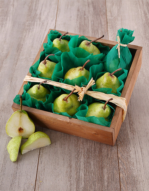 gourmet: Wooden Pear Crate!