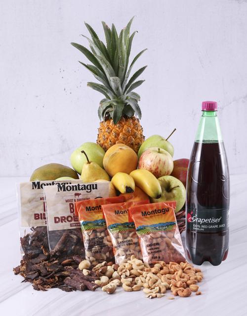 gourmet: Snack Essentials Fruit Basket!