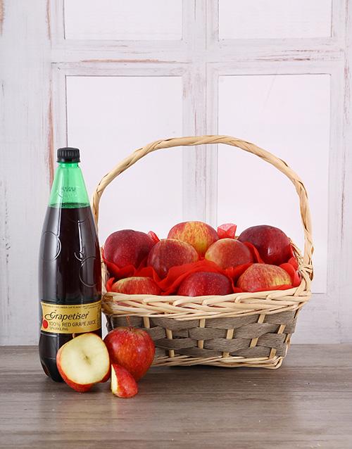 gourmet: Red Apple Fruit Basket!