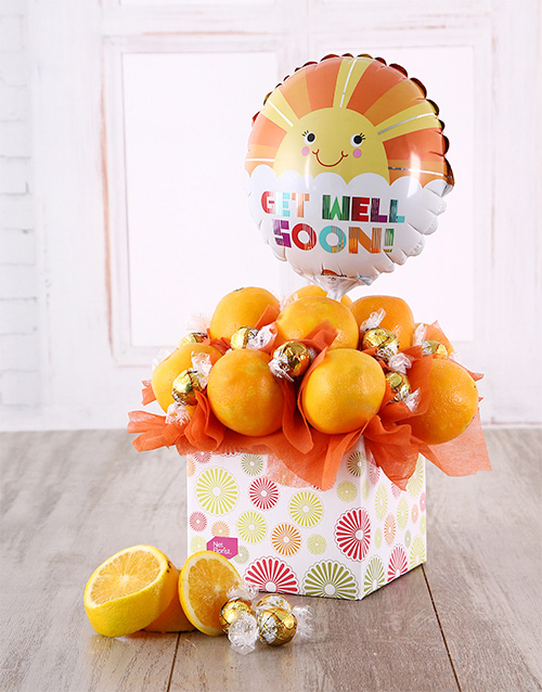 gourmet: Orange Sunshine Get Well Soon Box!